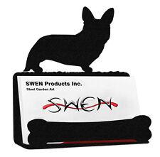 Swen Products Welsh Corgi Cardigan Dog Black Metal Business Card Holder