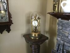 Antique German Bandstand Torsion Anniversary 400 Day Clock & Dome 16 1/2� Tall