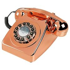 Wild & Wolf 746 Retro 1960's Copper Push Button Corded Telephone - New & Boxed