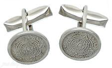 925 Sterling Silver Aztec Mexica Sun Stone Calendar Round Shirt Tux Cufflinks