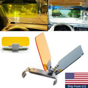1pc HD Visor Day/Night Anti Glare Visor Clip On Vision Car Vehicle Glasses Shade