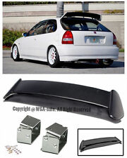For 96-00 Civic EK9 3Dr Type R Rear Wing Spoiler W/ Adjustable Alex Tilt Bracket
