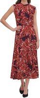 Tommy Hilfiger Womens Sheath Dress Purple Size 16 Mock-Neck Printed $119 126