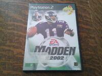 jeu playstation 2 madden nfl 2002