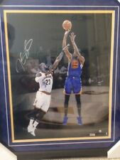 KEVIN DURANT AUTHENTIC FRAMED SIGNED 16x20 COLOR PHOTO     OVER LEBRON   STEINER