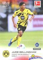 JUDE BELLINGHAM 2020 Topps Now Bundesliga #4 ROOKIE BVB Dortmund Debut MINT LE