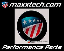3D Aufkleber MaxxTech Emblem Felgen Sticker Schwarz 50mm Chevy Dodge Hummer Ford