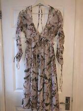 Topshop Midi Dress Floral Size UK 8