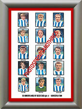 HUDDERSFIELD TOWN - 1970-71 - REPRO STICKERS A3 POSTER PRINT