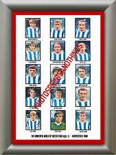Huddersfield Town - 1970-71 - Repro pegatinas A3 cartel impresión