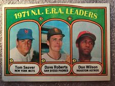 1972 Topps Baseball 1971 NL ERA Leaders Card #91