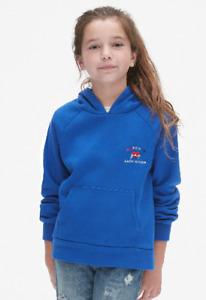 BNEW GAP KIDS Logo Hoodie Sweatshirt in Fleece, admiral blue, Small