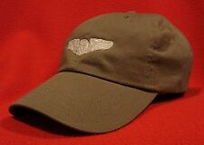 Air Force Aircrew Silver Wings ball cap low-profile aviator hat OD Green