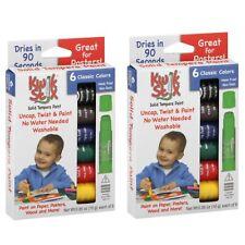 2 Pack Lot The Pencil Grip Kwik Stix Tempera Paint Classic Colors Homeschool Art