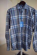 Toscano 100% Cotton Multi-Colored Striped Dress Shirt Size -Large