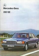 Mercedes Benz 280SE UK Market Brochure Sept 1980 with Technical Data 48 Pages