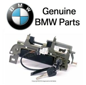 For BMW E36 Outside Door Handle Assembly w/ Key Front Driver Door Genuine New