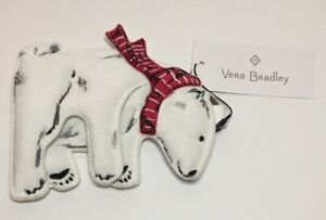 Vera Bradley Polar Bear Gift Card Bag Charm