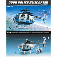 ACADEMY #12249 1/48 Plastic Model Kit US Ed Hughes 500D Police Helicopter