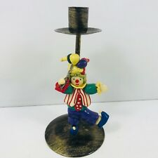 Lovely Clown Candle Stick Holder 19cm Tall