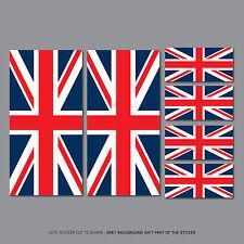 SKU2546 - 6 x Union Jack Stickers Car Badge Vinyl