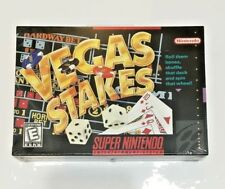 SNES - Vegas Stakes - New in Box, Factory H-Seam Sealed (Super Nintendo)