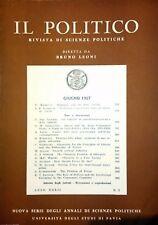 IL POLITICO RIVISTA DI SCIENZE POLITICHE ANNO XXXII N° 2 GIUGNO 1967