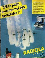Publicité advertising 1981 Téléviseur TV Radiola Video