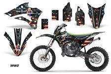 AMR Racing Kawasaki KX 85/100 Number Plate Graphic Kit Bike Decals 14-15 WW2