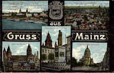 MAINZ am Rhein 1924 alte Mehrbild-Postkarte ua. Christuskirche Kaiserstrasse