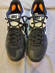 New Mens Nike Alpha Hurache Black/White Metal Baseball Cleats (Size 10.5)