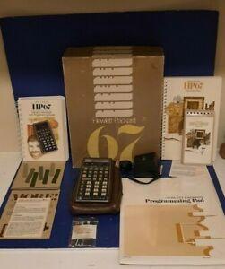 Vintage Hewlett-Packard HP 67 Programmable Calculator Working Complete OEM  Box