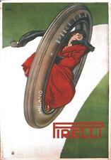 """TARGA VINTAGE """"1920 PNEUMATICI PIRELLI""""Pubblicità,TIRES ADEVRTISING,POSTER,PLATE"""