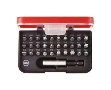 "Wiha SB7979101 Screwdriver Bit Box Standard 1/4"" Bits 31-Piece Made in Germany"