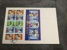 FRANCE FDC Enveloppe Grand Format Fête du Timbre 2004 Disney Mickey Minnie