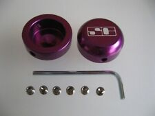 1 x Pair of Purple Savage Handlebar Bar End Plugs Alloy 22.2mm - MTB & BMX Bars