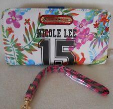 NICOLE LEE Zip Around WRISTLET Bifold Women's Wallet with Zippered Coin Pocket