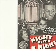 NIGHT AFTER NIGHT(1932)GEORGE RAFT MAE WEST ORIGINAL PRESSBOOK HERALD