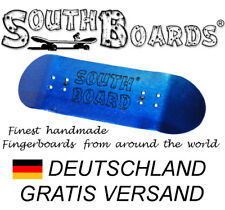 #2 Blau - SOUTHBOARDS® Handmade Wood Fingerboard Deck, Holz