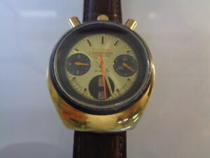 Citizen Chronograph Mens Watch Day & Date Automatic 8110 Bullhead Gold Plated