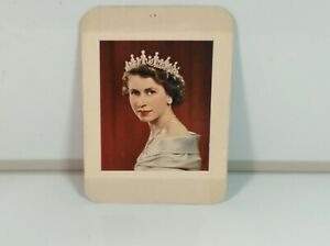NOT Framed Small Picture Of Queen Elizabeth  Portrait Good Cond Ready to Frame