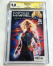 CGC 9.8 SS Captain Marvel #3 Movie Photo Variant signed by Brie Larson Avengers