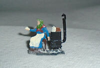 """Vintage Heinrichsen German Flat Lead """"Woman At Stove"""" Very Near Mint Free Ship A"""