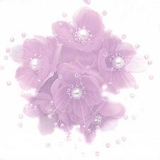 36 Wedding Bridal Pearl Satin Organza Flower Favor Pick - Light Pink