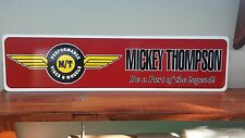 "Mickey Thompson Tires & Wheels Aluminum Sign 6"" x 24"""