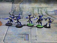 Warhammer 40k Metal Dark Eldar Wyches Wych Succubus Squad Lot Painted (OR714)