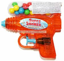 Kidsmania 0.74 oz Sweet Soaker Hard Candy Filled Toy Water Gun Exp. 12/18 New!