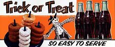 1954 Halloween Coca Cola ad High Quality Metal Magnet 2.5 x 6 inches Fridge 9327
