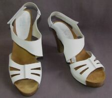 MORXIVA Sandals heels & plateau white leather 40 MINT