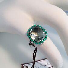 Stephen Dweck Green Amethyst/Chrysoprase/Sterling Silver Ring Size 7